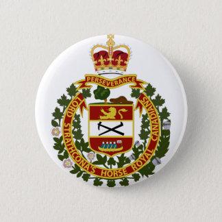 Häst-Royal Kanadensare för Lord Strathconas Standard Knapp Rund 5.7 Cm