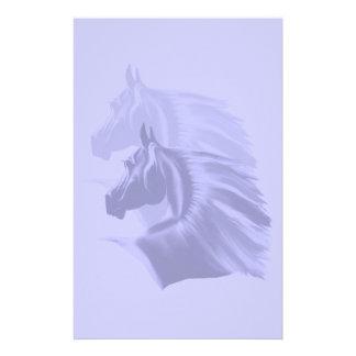 Häst Silhouette skuggade Sationary Anpassningsbara Brevpapper