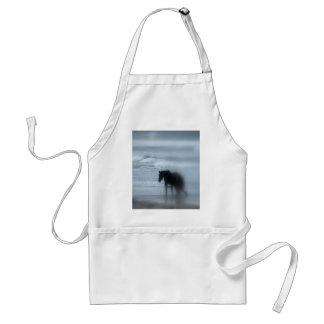 Häst som går stranden Newport Rhode - ö Förkläde