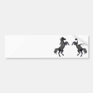 Häst som upp fostrar - spegeln bildekal