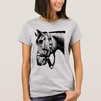 HästälskareT-tröja (svarten på grå färg) T Shirt