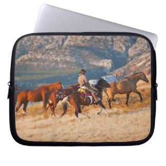 Hästar 2 för Cowboysamlarevild Laptop Sleeve