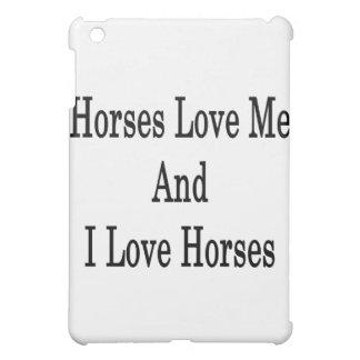Hästar älskar mig, och jag älskar hästar iPad mini skydd