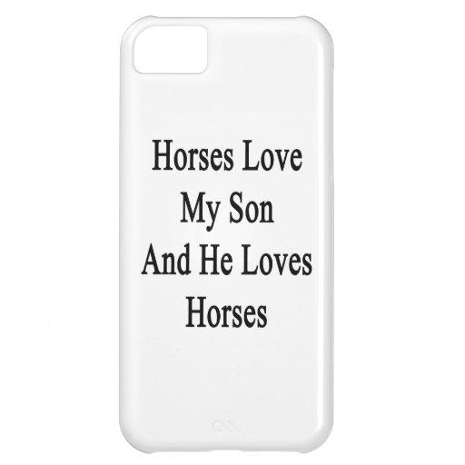 Hästar älskar min Son, och han älskar hästar iPhone 5C Skal