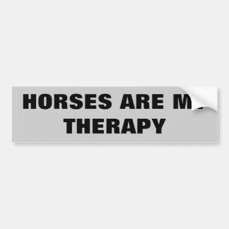 Hästar är min Therepy - hästsläp Bildekal