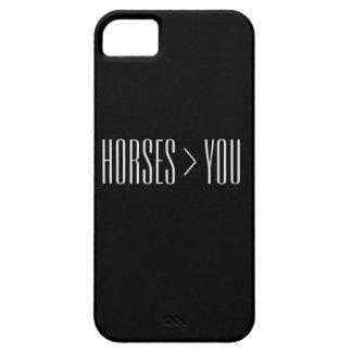 """""""Hästar > dig"""" telefonfodral iPhone 5 Skal"""