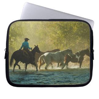 Hästar för hästryggryttaresamlare laptop fodral