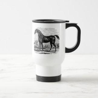 Hästar för Thoroughbred för häst för Rostfritt Stål Resemugg