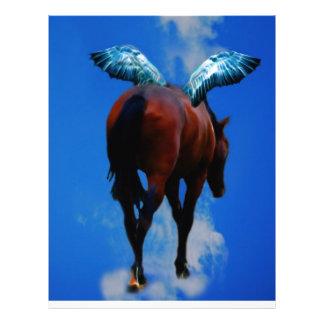 Hästar har änglar brevhuvud