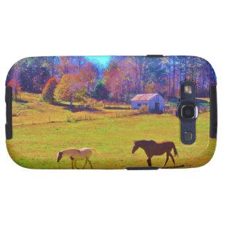 Hästar i ett regnbågefärgadfält galaxy s3 cases