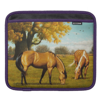 Hästar i höst färger sleeve för iPads