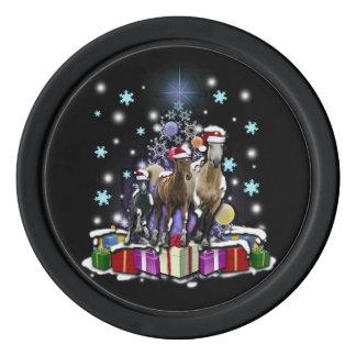 Hästar med julstilar poker marker