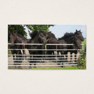 Hästar på staket visitkort