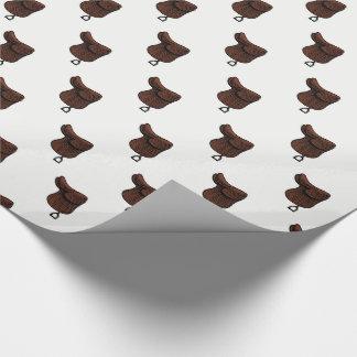 Hästar - Preppy rid- halssadelfärg Presentpapper