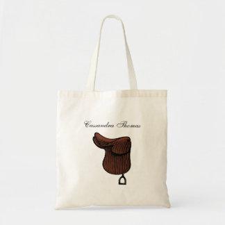 Hästar - Preppy rid- halssadelfärg Tygkasse