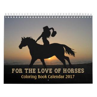 Hästar som färgar bokkalendern 2017 kalender