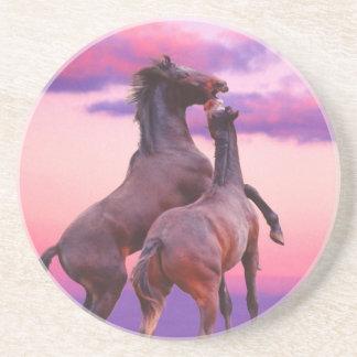 Hästar som leker underlägg