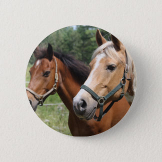Hästar Standard Knapp Rund 5.7 Cm