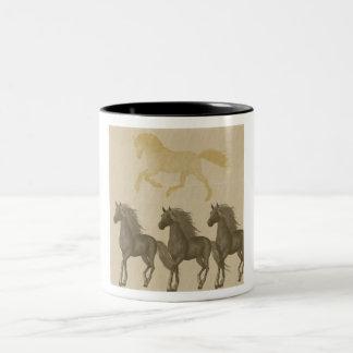 Hästar Två-Tonad Mugg