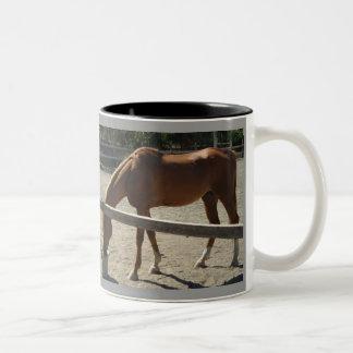Hästar.! Två-Tonad Mugg