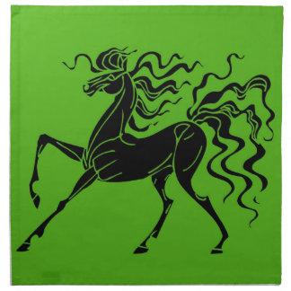 Hästdesign med galet hår tygservett