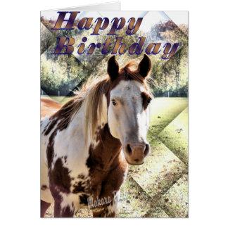 Hästen Bday Kort-skräddarsy Hälsningskort
