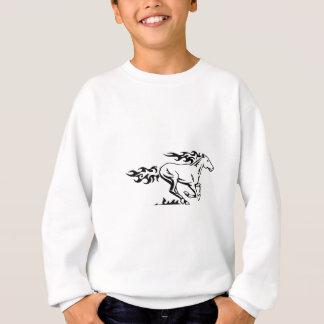 Hästen flammar in t-shirt