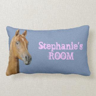 Hästen för färg för personligDenimblått kudder Lumbarkudde