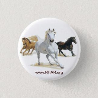 Hästen knäppas mini knapp rund 3.2 cm