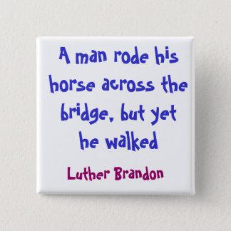 Hästen överbryggar standard kanpp fyrkantig 5.1 cm