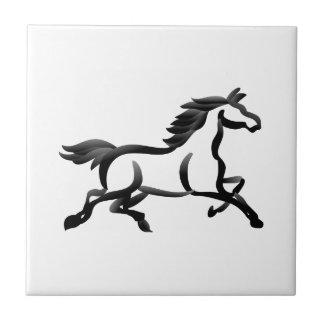 Hästen skisserar kakelplatta
