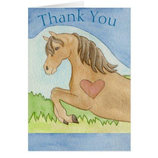 Hästen tackar dig att card hälsningskort