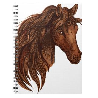 Hästhästsport Antecknings Böcker