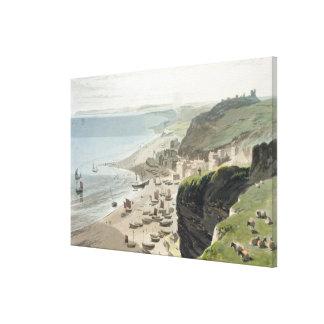 Hastings från den östliga klippan, från 'en resa A Canvastryck