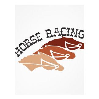 Hästkapplöpning Brevhuvud
