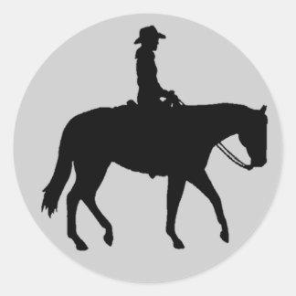 Hästklistermärke Runt Klistermärke