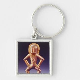 Hästnomad Fyrkantig Silverfärgad Nyckelring