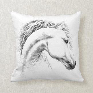 Hästporträtt ritar teckningdekorativ kudde