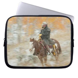 Hästryggryttaren regnar in laptop sleeve