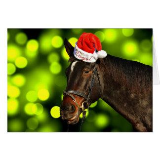 HästSanta julkort Hälsningskort