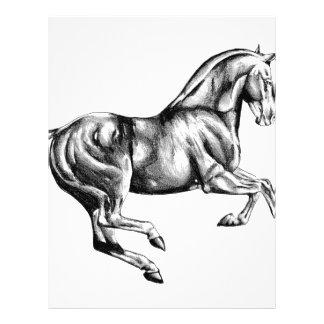 Hästteckningen skissar handgjord konst brevhuvud