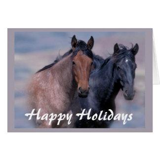 Hästvild och härlig julkort hälsningskort