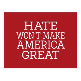 Hat som ska för att inte göra Amerika underbar Vykort