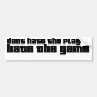 hata inte spelare, hatar leken bildekal