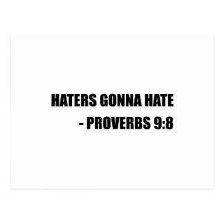 Haters som går att hata Proverbs Vykort