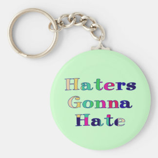 Haters som går att hata rund nyckelring