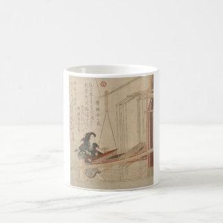 Hatori - japanskt vävareträsnitttryck kaffemugg