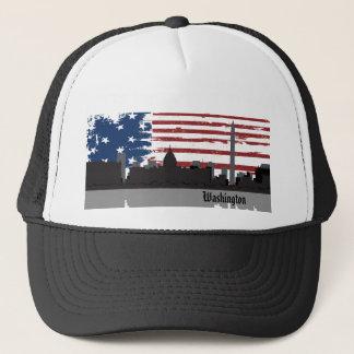 Hatt för CityScape för städer för Washington Truckerkeps