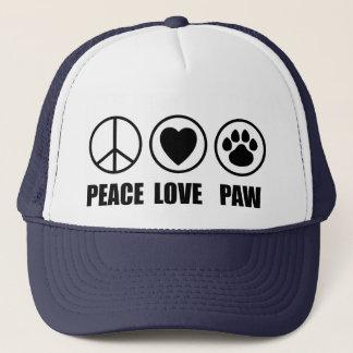 Hatt för fredkärlektass truckerkeps