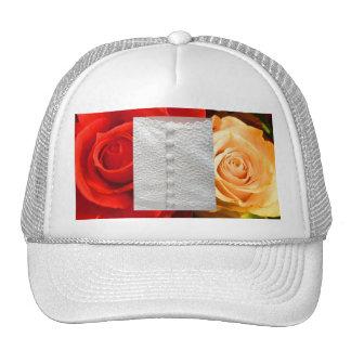 Hatt för gul ros för vitbröllopkappa röd keps